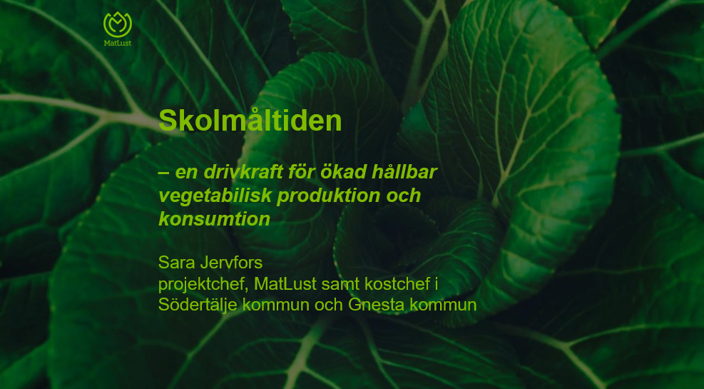 Presentation av Sara Jervfors