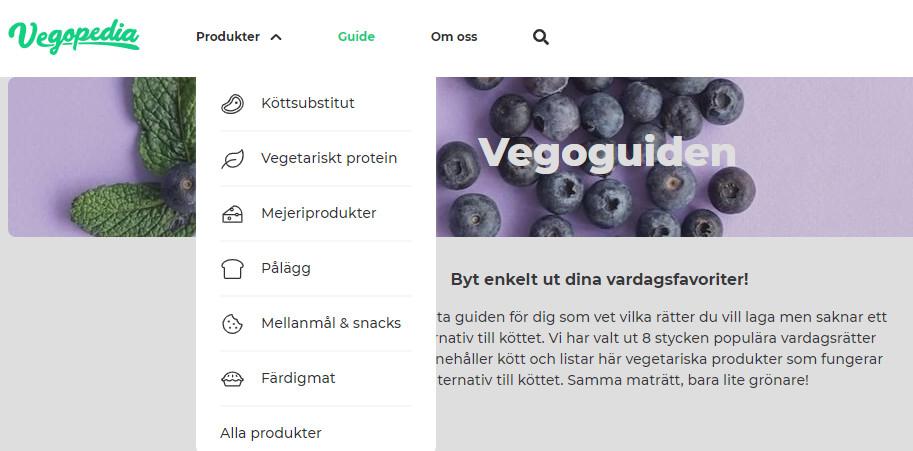 Vegopedias webbplats