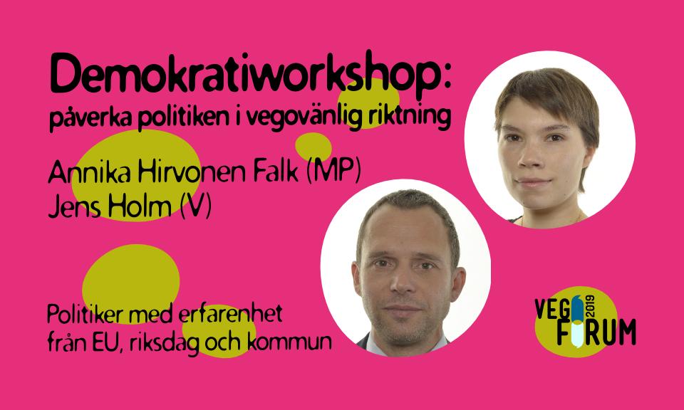 Jens Holm och Annika Hirvonen Falk